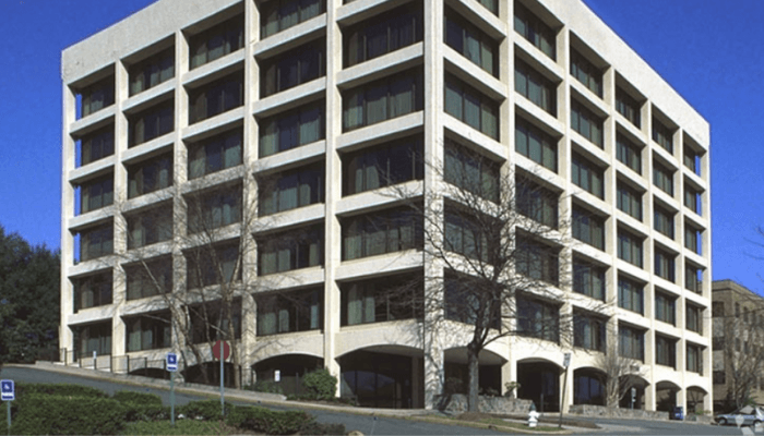 Atlantech Lights First Burnt Mills Building in Silver Spring, MD (10750 Columbia Pike)