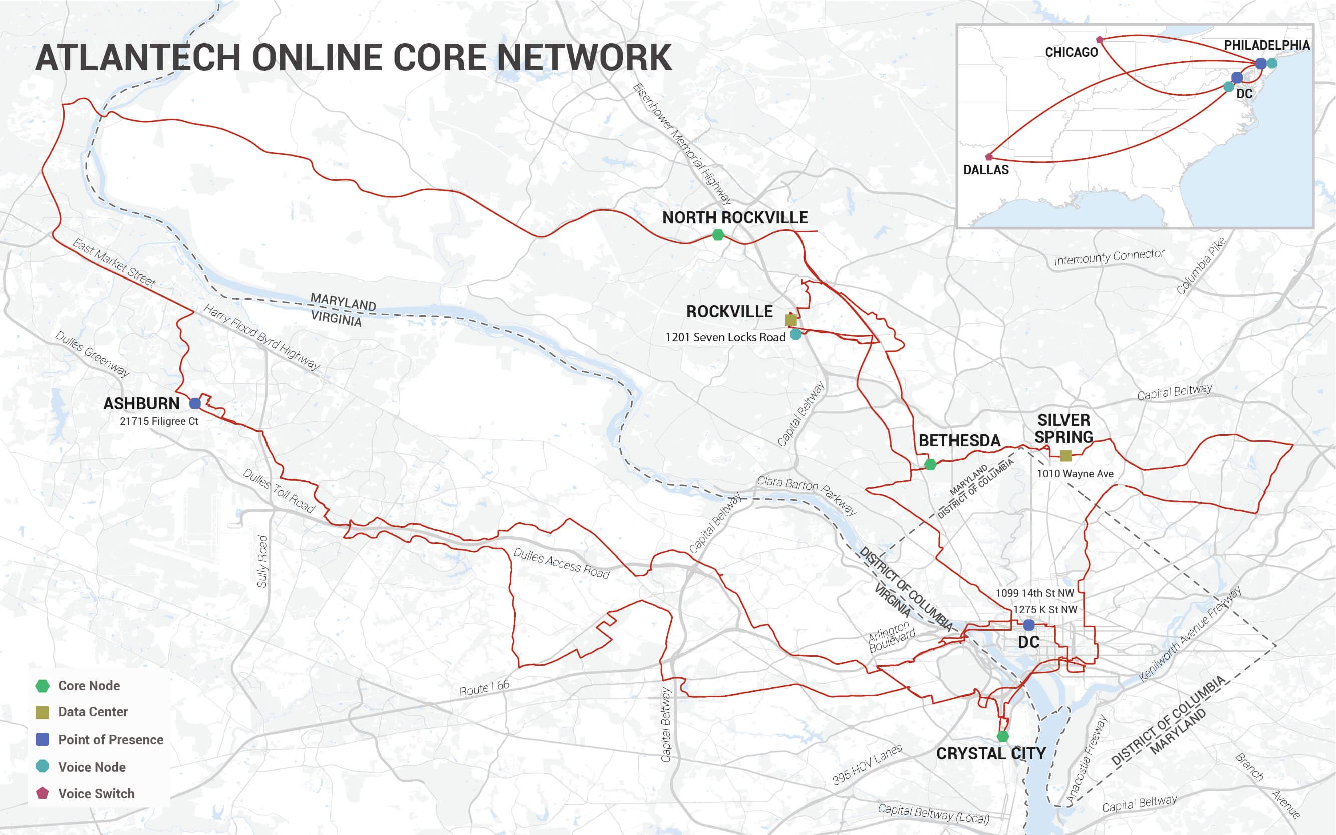 AOI-Core Network Map